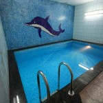 Мрия, бассейн в сауне